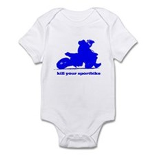 yamaha blue kill your sportbi Infant Bodysuit
