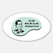 Radiologist Voice Oval Decal