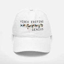 Video Editing Genius Baseball Baseball Cap