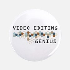 """Video Editing Genius 3.5"""" Button"""