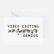 Video Editing Genius Greeting Card