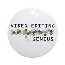 Video Editing Genius Ornament (Round)