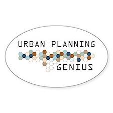 Urban Planning Genius Oval Decal
