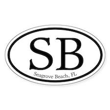 SB Seagrove Beach Oval Oval Decal