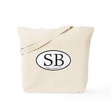 SB Seagrove Beach Oval Tote Bag