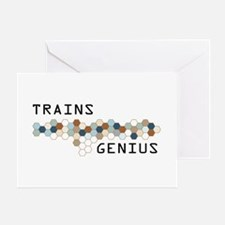 Trains Genius Greeting Card