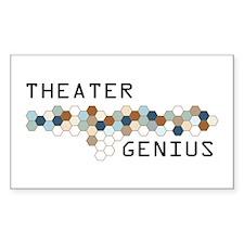 Theater Genius Rectangle Decal