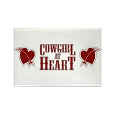Cowgirl at Heart Rectangle Magnet