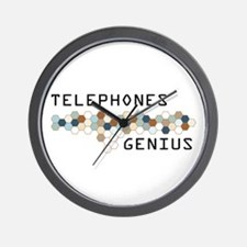 Telephones Genius Wall Clock