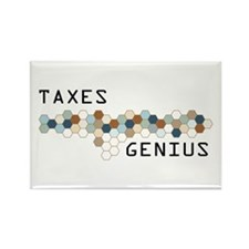 Taxes Genius Rectangle Magnet