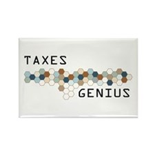 Taxes Genius Rectangle Magnet (10 pack)