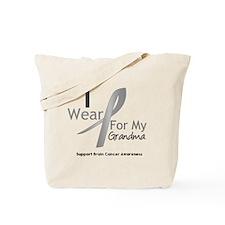 Gray Ribbon Grandma Tote Bag