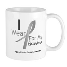 Gray Ribbon Grandma Mug