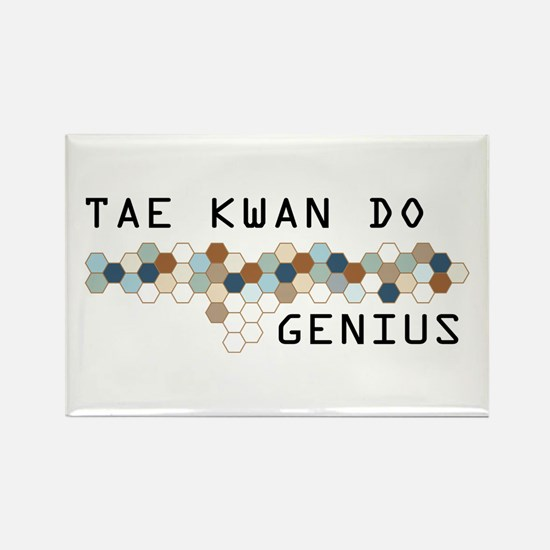 Tae Kwan Do Genius Rectangle Magnet