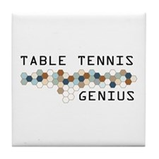 Table Tennis Genius Tile Coaster