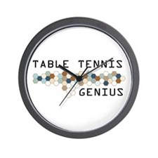 Table Tennis Genius Wall Clock