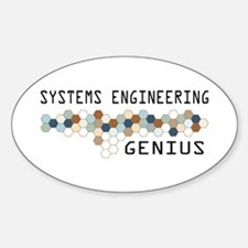 Systems Engineering Genius Oval Decal