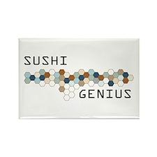 Sushi Genius Rectangle Magnet
