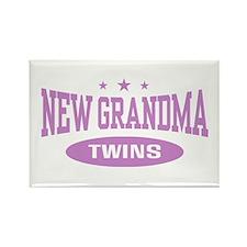 New Grandma Twins Rectangle Magnet