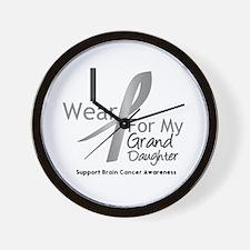 Gray Ribbon Granddaughter Wall Clock