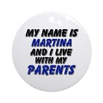 my name is martina and I live with my parents Orna