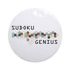 Sudoku Genius Ornament (Round)