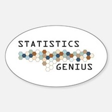 Statistics Genius Oval Decal
