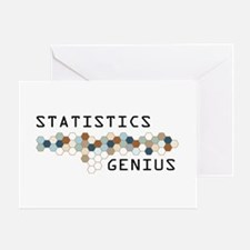 Statistics Genius Greeting Card