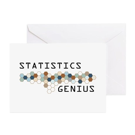 Statistics Genius Greeting Cards (Pk of 10)