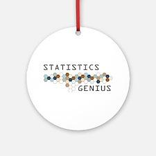 Statistics Genius Ornament (Round)