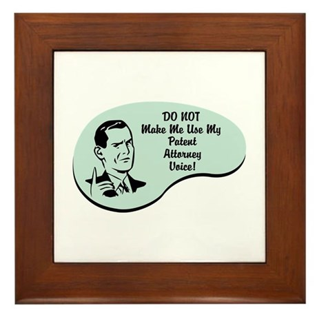 Patent Attorney Voice Framed Tile