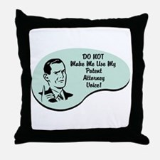 Patent Attorney Voice Throw Pillow