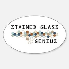 Stained Glass Genius Oval Decal