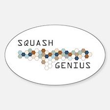 Squash Genius Oval Decal