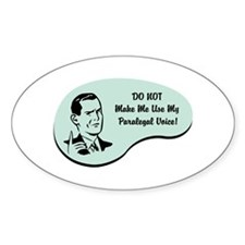 Paralegal Voice Oval Sticker (10 pk)