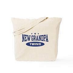 New Grandpa Twins Tote Bag