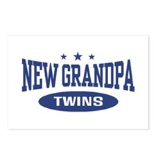 New Grandpa Twins Postcards (Package of 8)