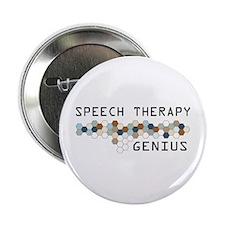 "Speech Therapy Genius 2.25"" Button"