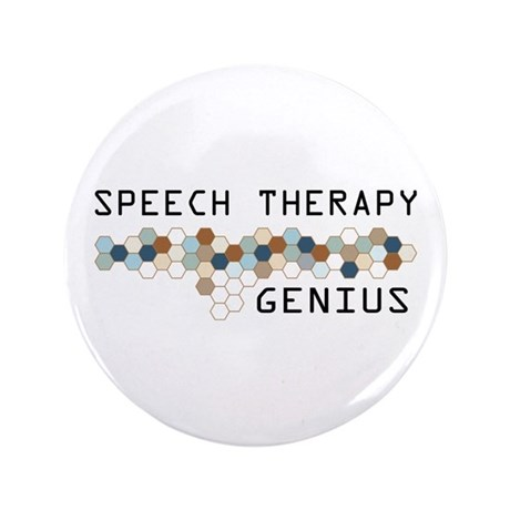 "Speech Therapy Genius 3.5"" Button (100 pack)"