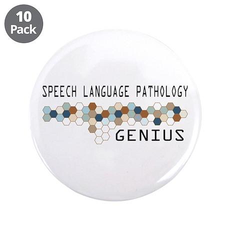 "Speech Language Pathology Genius 3.5"" Button (10 p"