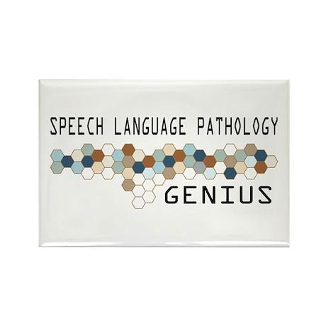 Speech Language Pathology Genius Rectangle Magnet