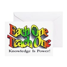 Cute Knowledge is power Greeting Card