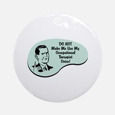 Occupational Therapist Voice Ornament (Round)