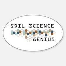 Soil Science Genius Oval Decal