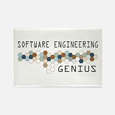 Software Engineering Genius Rectangle Magnet