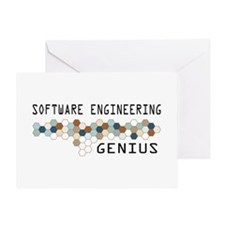 Software Engineering Genius Greeting Card