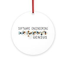 Software Engineering Genius Ornament (Round)