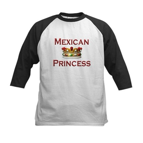 Mexican Princess Kids Baseball Jersey