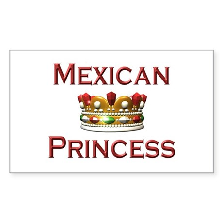 Mexican Princess Rectangle Sticker