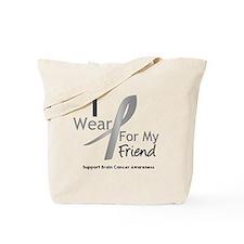 Gray Ribbon Friend Tote Bag